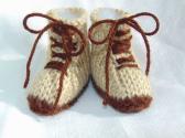 Hand Knit Work Boots Newborn Size