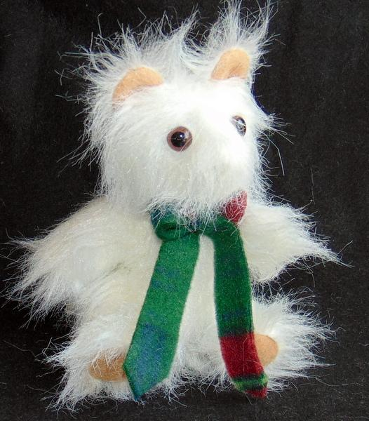 Pure White Long Hair Handmade Toy Teddy Bear