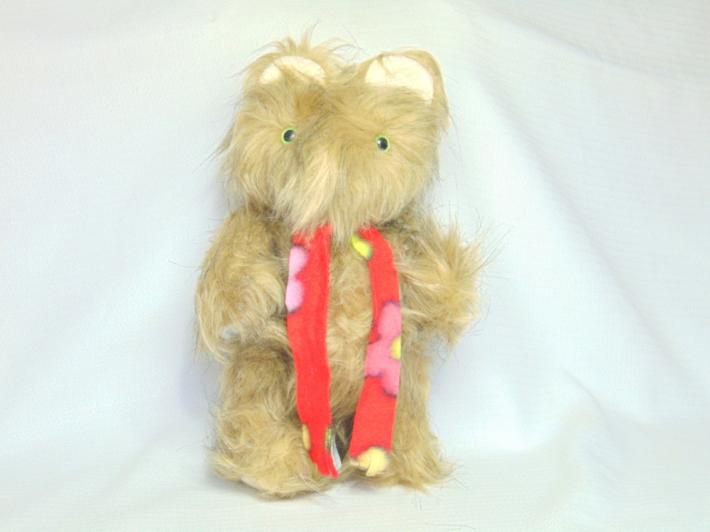 Handmade Teddy Bear Super Long Hair with Green Eyes