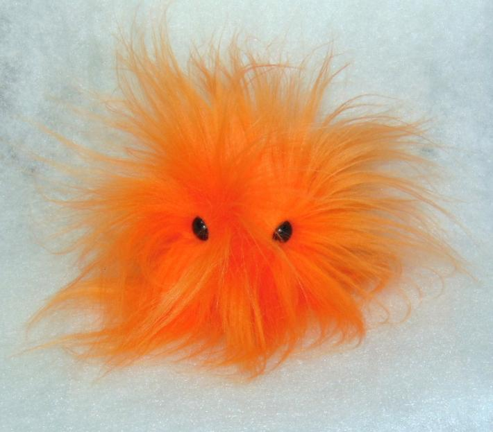 Bright Orange FurPet© With Super Long Hair