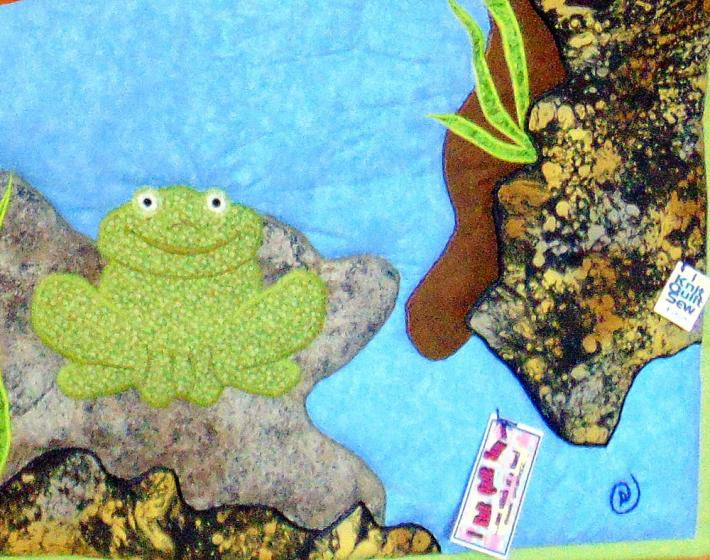 The Calico Frog Pond Handmade Baby Art Quilt