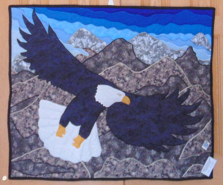 Hand Quilted Eagle Wall Hanging