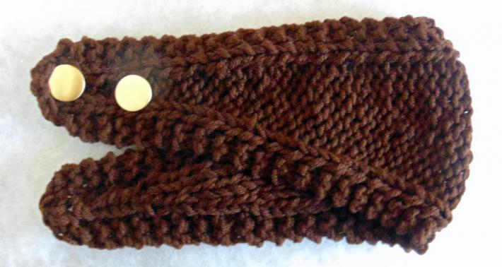 Brown Hand Knit Ladies Headband