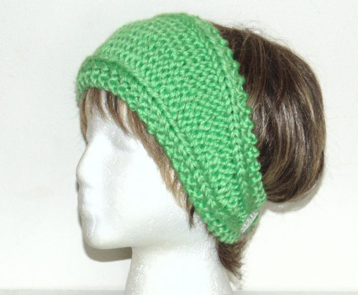 Neon Green Hand Knit Headband