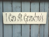 Grandmas sign white