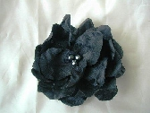 Black Flower with black beaded center