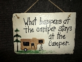 Camper camping sign family humor
