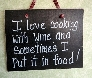 Wood Sign for wine drinkers
