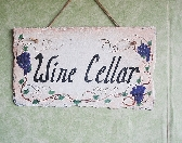 Wine Cellar hand painted slate sign