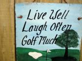 Golf Welcome Sign on Slate