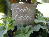 Garden marker slate hand painted for Dad