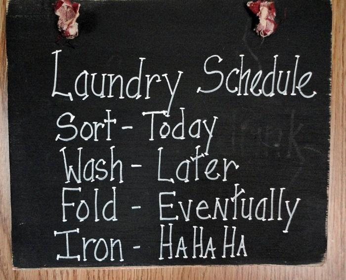 Hanging Laundry Sign Wood Sign Laundry Schedule Funny Wall Hanging On Handmade Artists