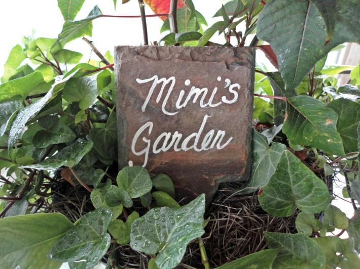 Mimis Garden sign marker herbs flowers grandma