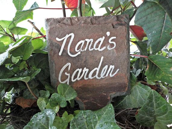 Nana Garden Marker Sign Antique slate