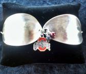 Ohio State silverware cuff bracelet