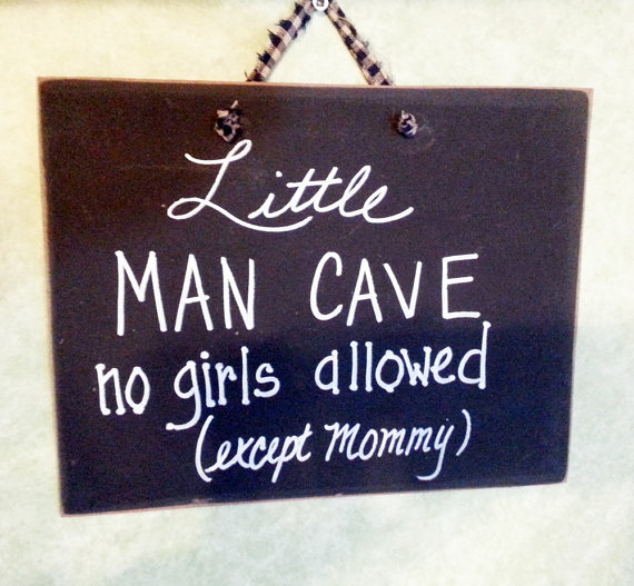 Stores That Sell Man Cave Signs : Little man cave sign boys nursery decor on handmade