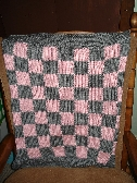 Pink and Gray Checkerboard Blanket
