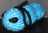 OOAK Electric Blue Caterpillar
