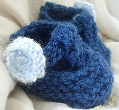 Baby Blue Booties 3 to 6 months