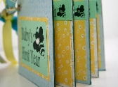 First Year Baby Bee Keepsake Predecorated Chipboard Mini Album MADE TO ORDER