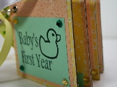 Babys First Year Duck Keepsake Predecorated Chipboard Mini Album