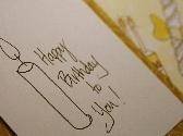 Handmade Hand Drawn Birthday Candle Card
