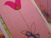 Hand Drawn Spring Flower Greeting Cards Set of Three