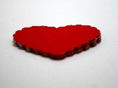 Scalloped Heart Scrapbook Diecuts