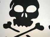 Skull and Crossbones Scrapbook Diecuts