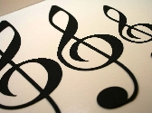 Treble Clef Scrapbook Diecuts