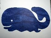 Blue Whale Scrapbook Diecut