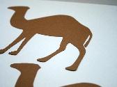 Camel Silhouette Scrapbook Diecuts