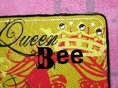 Queen Bee Pink Metallic Note Card