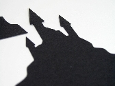 Haunted House 2 Silhouette Handmade Diecut Embellishments for Scrapbooks