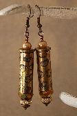 Beautifully Etched Bullet Casing Earrings – Golden Gem