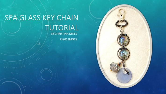 Sea Glass Key Chain Tutorial