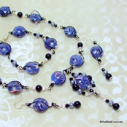 Stormy Nights Necklace Bracelet and Earrings