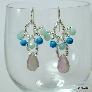 Fluorite Amazonite and Turquoise Beadwoven Earrings