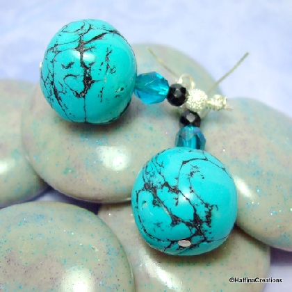 Polymer Clay Faux Turquoise Earrings
