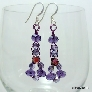 Purple Crystal Wire Woven Earrings