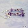 Purple Crystal Wire Woven Earrings