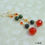 Russian Jade and Faceted Carnelian Earrings
