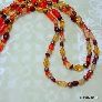 Two Strand Necklace in Autumn Tones