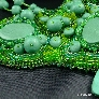 Peaceful Glade Bead Embroidered Polymer Clay Bib Necklace