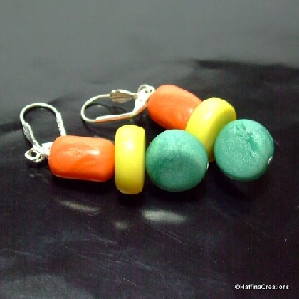 Peas Corn and Carrots Polymer Clay Earrings