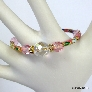 Pink Cloisonne Memory Wire Bangle