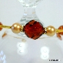 Amber and Gold Memory Wire Bracelet