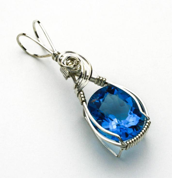 Swiss Blue Topaz Pendant