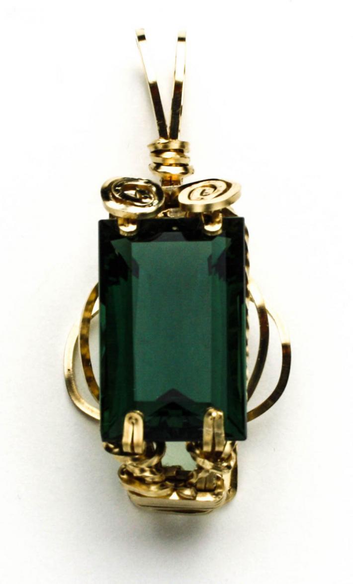 Green Amethyst Pendant