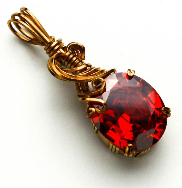 Red Ruby Pendant